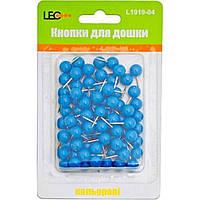 Кнопки Leo Бочка L1919-04 неоновые синие 80 шт.