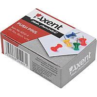 Кнопки-гвоздики Axent 4203 цветные 30 шт.