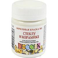Краска акриловая для стекла и керамики Невская палитра ЗХК Decola 50мл белая 352167