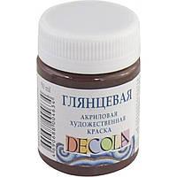 Краска акриловая Невская палитра ЗКХ Decola 50мл коричневая глянцевая 352002
