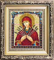 Набор для вышивки ювелирным бисером Икона Божьей Матери Семистрельная