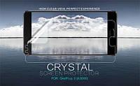 Защитная пленка Nillkin Crystal для OnePlus 3 / OnePlus 3T (Анти-отпечатки)
