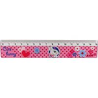 """Линейка пластмассовая 15 см """"Kite"""" Cute Bunny (100) №K17-090-1"""