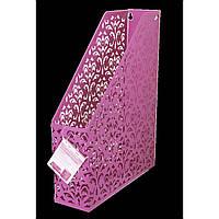 "Лоток вертикальный ""Buromax"" ""Barocco"" металлический, розовый 320 х250х75мм №6262-10"