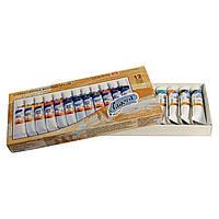 Масляные краски Невская палитра ЗХК Ладога 12 цветов по 18мл в тубе картонная коробка 350314