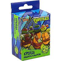 """Мел цветной """"1 Вересня"""" 24 шт квадратный Ninja Turtles №400231"""