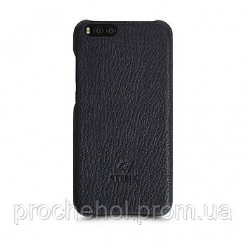 Кожаная накладка Stenk Cover для Xiaomi Mi Note 3 Черный