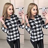Женская черно-белая рубашка в клетку 401390, фото 2