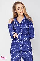 Женская пижама из хлопка со штанами в расцветках 641936, фото 1