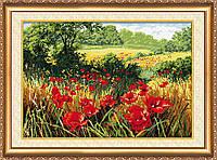 Набор для вышивки крестом Маковое поле