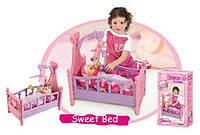 Ліжко для ляльок, довжина 49см