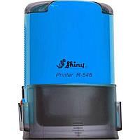 Оснастка автоматическая для круглой печати пластиковая d45мм Shiny корпус синий R-546