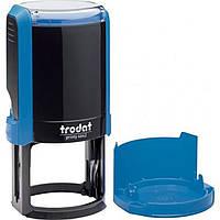 Оснастка для круглой печати пластиковая d42мм Trodat 4642 корпус синий с пластиковым футляром-колпачком