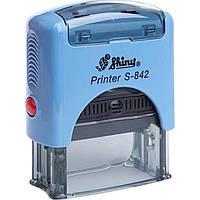 "Оснастка для штампа ""Копия верна"" пластиковая 38х14мм Shiny корпус синий S-842"