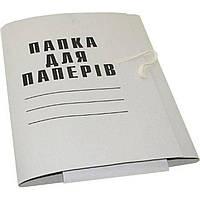 Папка на завязках А4 картонная