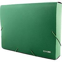 Папка-бокс Economix E31405-04 А4 60мм пластиковая на резинке зеленая