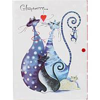 Папка-конверт Leo Glamour cats L5905/490732 А4 на кнопке