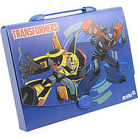 """Папка-портфель """"Kite"""" А4 пластиковая Transformers (10) №TF17-209"""