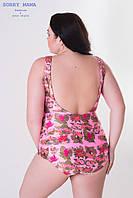 Принтованный женский сплошной купальник большого размера 1015810, фото 1