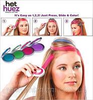 Цветная пудра( мелки) для волос цветные Hot Huez, фото 1