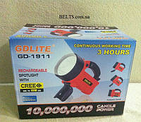 Ліхтар прожектор GDlite GD-1911, супер яскравий ліхтар з акумулятором GD - 1911, фото 1