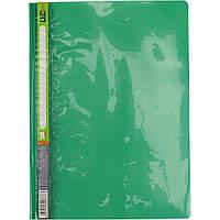Папка-скоросшиватель Leo 3646-08/930 036 А4 пластиковая без перфорации зеленая