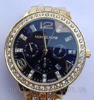 Женские часы Mikhael Kors Gold Black копия (Арт. 1412)