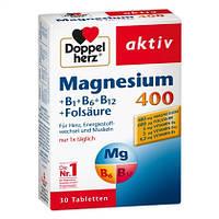 Doppelherz Magnesium 400mg - Магнезия 400 мг + комплекс витаминов B1+B2+B12 + фолиевая кислота, 30 табл.