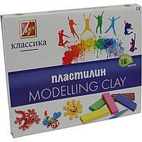 Пластилин Луч Детство/Классика 20С1329-08/540254 16 цветов 320г со стеком, фото 1