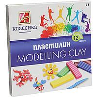 Пластилин Луч Детство/Классика 7С331-08 12 цветов 240г со стеком, фото 1