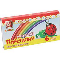 Пластилин мягкий Луч Кроха 12С863-08 6 цветов 99г со стеком