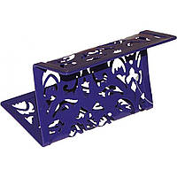 Подставка для визиток металлическая Buromax Barocco 6226-07 100х97х47мм фиолетовая