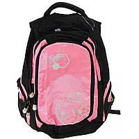Ранец школьный 1 Вересня GF 551276 уплотнена спинка 1 основное отделение и 2 дополнительных 2 боковых кармана розовый