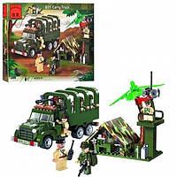Конструктор детский Brick 811 Военный грузовик, фото 1