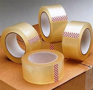 Скотч упаковочный 66, 100, 200, 300, 500 метров (прозрачный, коричневый)