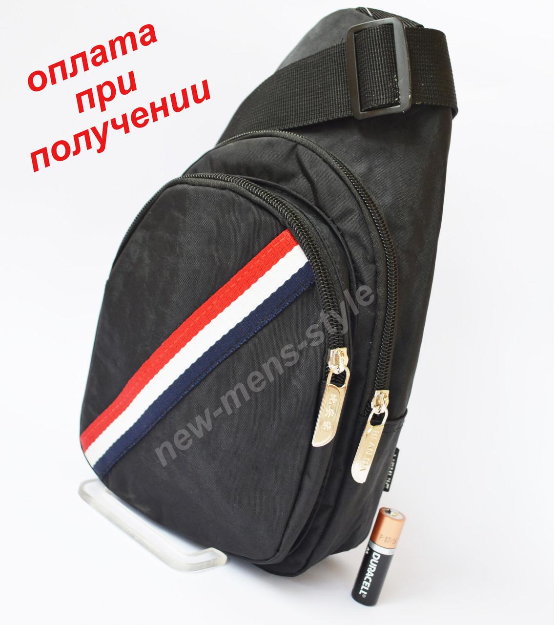 a3a68c26dfb6 Мужская спортивная тканевая сумка рюкзак бананка слинг через плечо