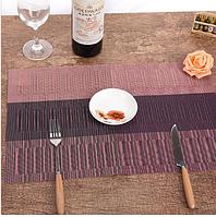 СЕРВИРОВОЧНЫЕ КОВРИКИ для защиты стола (сетка) 30х45 см трехцветные розоовый
