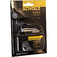 """Степлер """"Scholz"""" 16 л №4036 / 04020819 черный, мини и 1000 скоб (24) №24 / 6"""