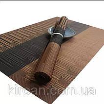 Сервировочные коврики, подставки, коврики для сервировки 30х45 см трехцветные коричневый, фото 3