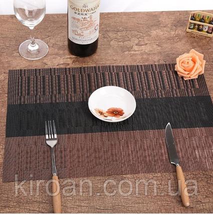 Сервировочные коврики, подставки, коврики для сервировки 30х45 см трехцветные коричневый, фото 2