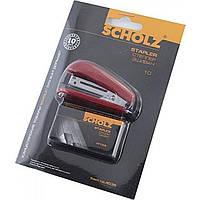 Степлер №10 Scholz 8 листов мини красный +1000 скоб 4035/04020831