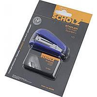 Степлер №10 Scholz 8 листов мини синий +1000 скоб 4035/04020836