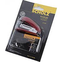 Степлер №24/6 Scholz 16 листов мини красный +1000 скоб 4036/04020811