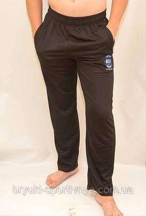 Брюки спортивные трикотажные мужские с карманами на молнии, фото 2
