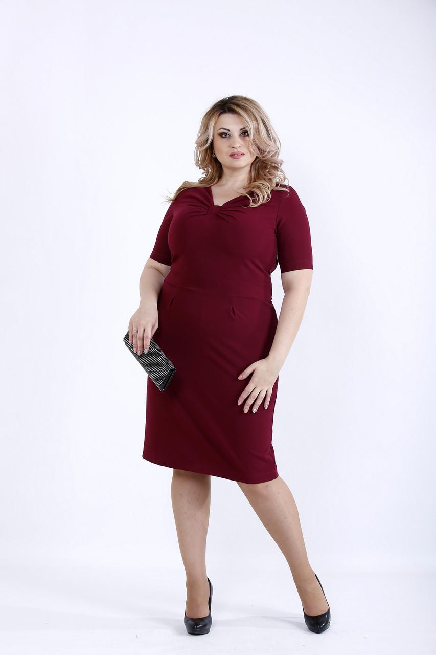 Бордовое элегантное платье | 0895-1