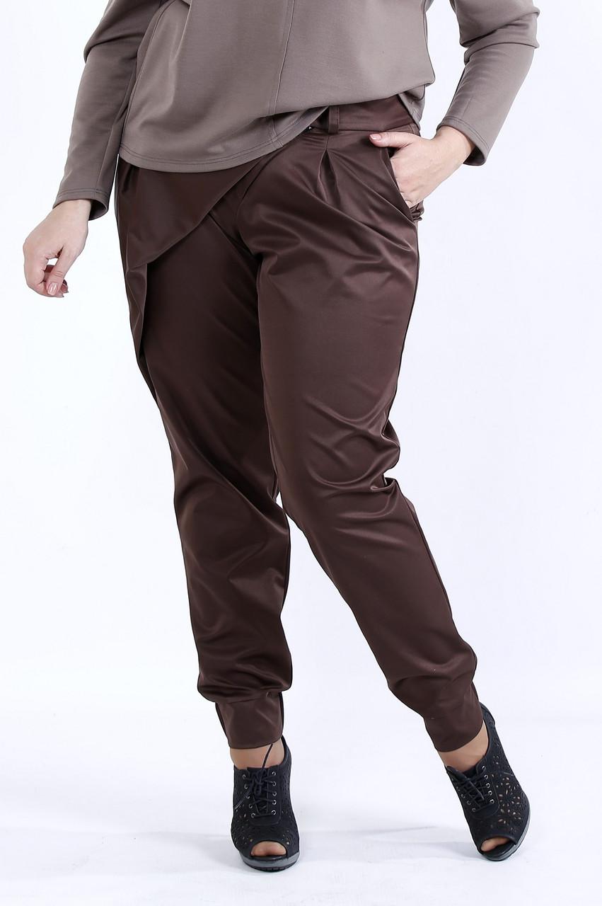 Шоколадные стильные брюки | b040-1