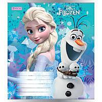 Тетрадь 1 Вересня 12 листов косая линия Frozen-2018 (25) (500) №761836