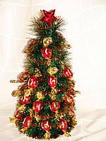 """Новогодняя елочка 30 см из конфет"""" красные Truffle""""№25"""