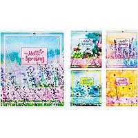 Тетрадь 12 листов линия картонная обложка Скажи привет весне (25) (500) №17115 / Подолье /