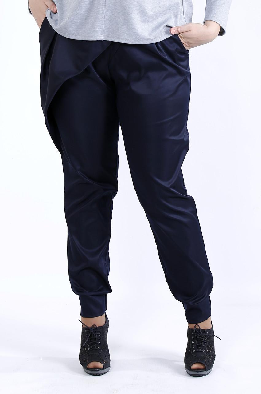 Синие удобные брюки   b040-3